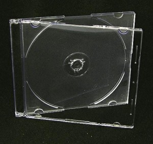 Pudełko SLIM CD/DVD 5,2mm Clear/Mat