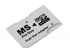 Adapter 2xMicro SD/SDHC na MS PRO DUO PSP22
