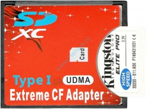 Adapter 2xMikro SD na CF Compact Flash SDHC, SDXC dual 2 x 64gb